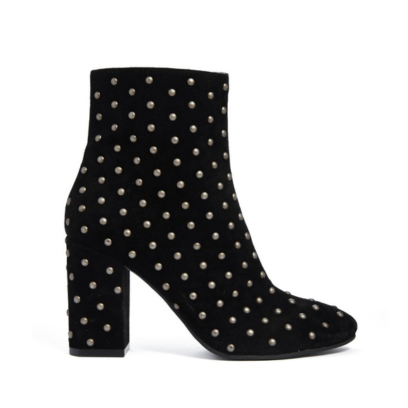 Lucky Brand Shoes - New Lucky Brand Black Wesson Studded Ankle Bootie